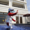 2歳2ヶ月と沖縄旅行に行ってきました:インフィニティプール編