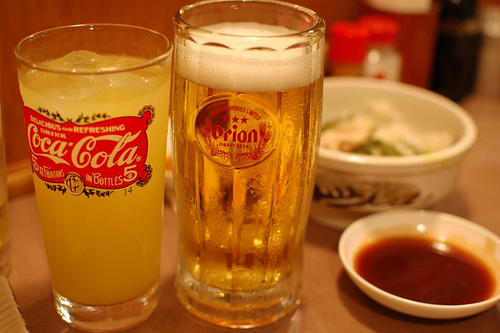 夕焼市場・オリオンビール