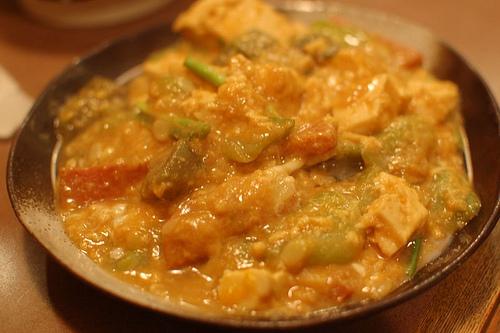 夕焼市場・へちまの味噌炒め