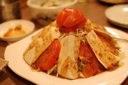 夕焼市場・島豆腐サラダ